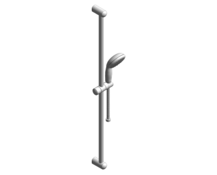 Revit, Bim, Store, Components, MEP, Object, Grohe, Plumbing, Fixtures, 14, METRIC, New, Tempesta, 100, Shower, Rail, Set, 2764600E
