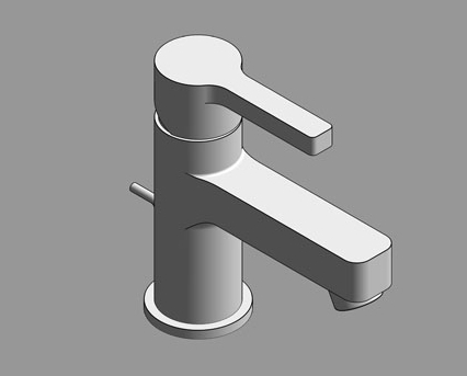Revit, Bim, Store, Components, MEP, Object, Grohe, Plumbing, Fixtures, 14, METRIC, Lineare, Basin, Mixer, XS, Size, 32109000