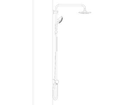Revit, Bim, Store, Components, MEP, Object, Grohe, Plumbing, Fixtures, 14, METRIC, Euphoria, System, 180, Shower, System, with, Thermostat, 27296001