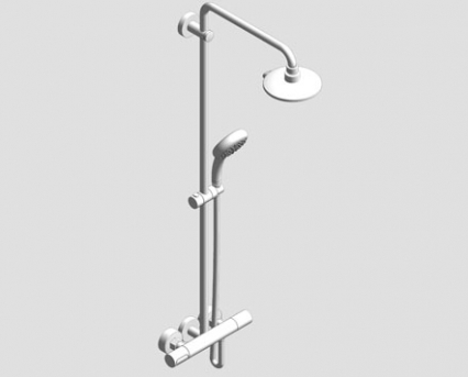 Revit, Bim, Store, Components, MEP, Object, Grohe, Plumbing, Fixtures, 14, METRIC, Power, Soul, System, 190, Shower, Thermostat, 27909000