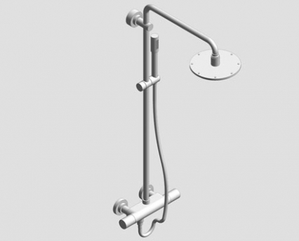 Revit, Bim, Store, Components, MEP, Object, Grohe, Plumbing, Fixtures, 14, METRIC, Rainshower, System, 210, Shower, System, Thermostat, 27032001