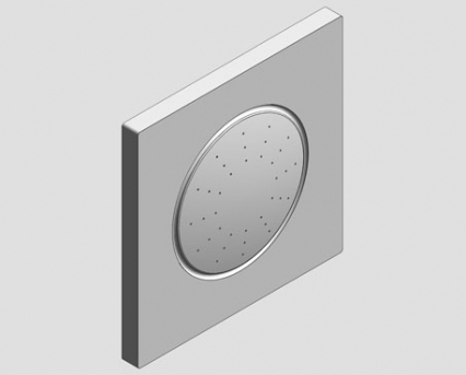 Revit, Bim, Store, Components, MEP, Object, Grohe, Plumbing, Fixtures, 14, METRIC, Rainshower, F, Series, Side, Shower, 27251000