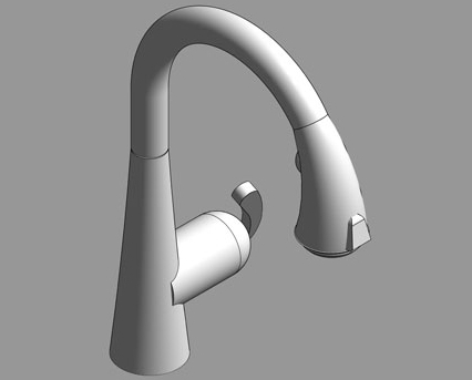 Revit, Bim, Store, Components, MEP, Object, Grohe, Plumbing, Fixtures, 14, METRIC, Zedra, Single, Lever, Sink, Mixer, 32294000