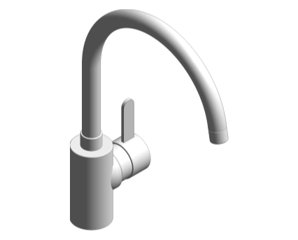 Revit, Bim, Store, Components, MEP, Object, Grohe, Plumbing, Fixtures, 14, METRIC, Sink, Mixer, 32843000