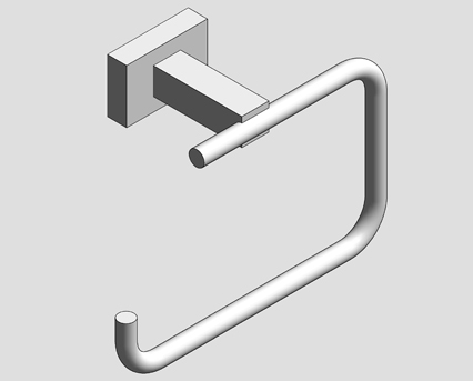 Revit, Bim, Store, Components, MEP, Object, Grohe, Plumbing, Fixtures, 14, METRIC, Essentials, Cube, Toilet, Roll, Holder, 40507000
