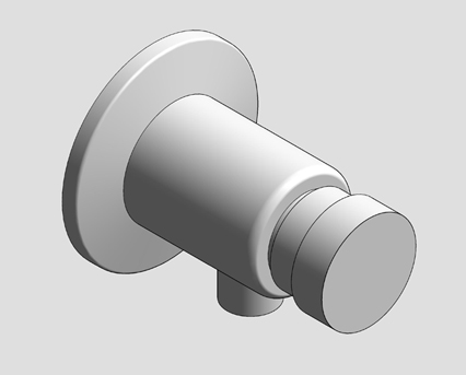 Revit, Bim, Store, Components, MEP, Object, Grohe, Plumbing, Fixtures, 14, METRIC, Euroeco, Cosmopolitan, T, Self-Closing, Shower, Valve, 36267000