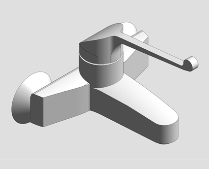Revit, Bim, Store, Components, MEP, Object, Grohe, Plumbing, Fixtures, 14, METRIC, Euroeco, Sequential, Single-Lever, Basin, Mixer, 32794000