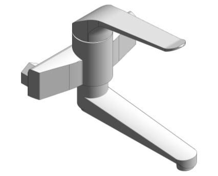 Revit, Bim, Store, Components, MEP, Object, Grohe, Plumbing, Fixtures, 14, METRIC, Euroeco, Special, Single, Lever, Basin, Mixer, 32772000