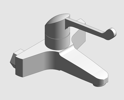 Revit, Bim, Store, Components, MEP, Object, Grohe, Plumbing, Fixtures, 14, METRIC, Euroeco, Special, Wash, Basin, Mixer, with, Wall, Mounted, Safety, Lever, 32823000