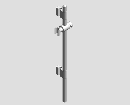 Revit, Bim, Store, Components, MEP, Object, Grohe, Plumbing, Fixtures, 14, METRIC, Rainshower, Shower, Rail, 600mm, 28797001