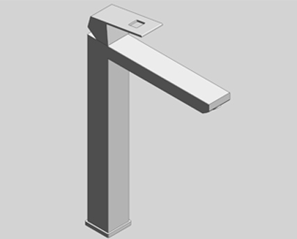Revit, Bim, Store, Components, MEP, Object, Grohe, Plumbing, Fixtures, 14, METRIC, Eurocube, OHM, Single, Lever, Basin, Mixer, XL, 23406000