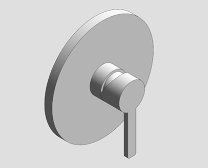 Revit, Bim, Store, Components, MEP, Object, Grohe, tap, Lineare, OHM, concealed, shower, mix, trimset, 19296000