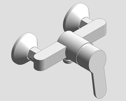 Revit, Bim, Store, Components, MEP, Object, Grohe, Plumbing, Fixtures, 14, METRIC, BauEdge, Single, Lever, Basin, Mixer, 23560000