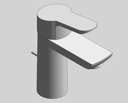 Revit, Bim, Store, Components, MEP, Object, Grohe, Plumbing, Fixtures, 14, METRIC, BauEdge, Single, Lever, Basin, Mixer, 23335000