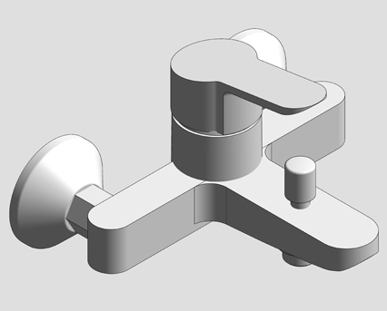 Revit, Bim, Store, Components, MEP, Object, Grohe, Plumbing, Fixtures, 14, METRIC, BauEdge, Single, Lever, Basin, Mixer, 23341000