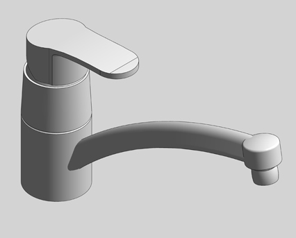 Revit, Bim, Store, Components, MEP, Object, Grohe, Plumbing, Fixtures, 14, METRIC, BauEdge, Single, Lever, Basin, Mixer, 23563000