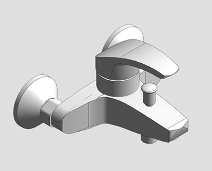 Revit, Bim, Store, Components, MEP, Object, Grohe, Plumbing, Fixtures, 14, METRIC, Eurosmart, Single, Lever, Bath, Mixer, 32158002