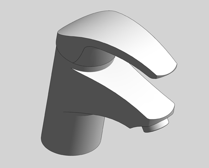 Revit, Bim, Store, Components, MEP, Object, Grohe, Plumbing, Fixtures, 14, METRIC, Eurosmart, Single, Lever, Basin, Mixer, S, Size, 32926002