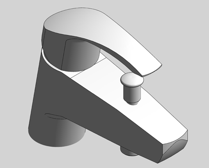 Revit, Bim, Store, Components, MEP, Object, Grohe, Plumbing, Fixtures, 14, METRIC, Eurosmart, Single, Lever, Bath, Mixer, 33412002