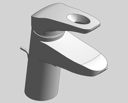 Revit, Bim, Store, Components, MEP, Object, Grohe, Plumbing, Fixtures, 14, METRIC, Eurostyle, Single, Lever, Basin, Mixer, M, Size, 33558003
