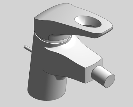 Revit, Bim, Store, Components, MEP, Object, Grohe, Plumbing, Fixtures, 14, METRIC, Eurostyle, Single, Lever, Bidet, Mixer, S, Size, 33565003