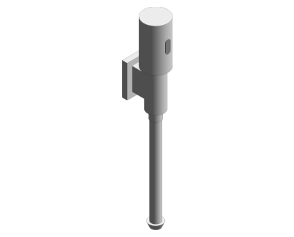Revit, Bim, Store, Components, MEP, Object, Grohe, Plumbing, Fixtures, 14, METRIC, Rondo, Flush, Valve, for, Urinal, 37421000