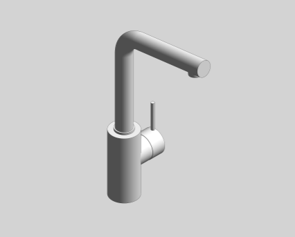 Revit, Bim, Store, Components, MEP, Object, Grohe, Plumbing, Fixtures, 14, METRIC, Concetto, Single, Lever, Basin, Mixer, 23737001/23737EN1