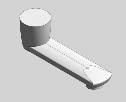 Revit, Bim, Store, Components, MEP, Object, Grohe, Plumbing, Fixtures, 14, METRIC, Cast, swivel, spout, 13378000