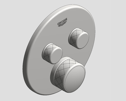 Revit, Bim, Store, Components, MEP, Object, Grohe, Plumbing, Fixtures, 14, METRIC, Grohtherm, Smart, Control, Thermostat, 29119000