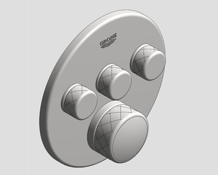 Revit, Bim, Store, Components, MEP, Object, Grohe, Plumbing, Fixtures, 14, METRIC, Grohtherm, Smart, Control, Thermostat, 29138000