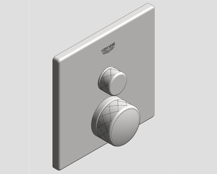 Revit, Bim, Store, Components, MEP, Object, Grohe, Plumbing, Fixtures, 14, METRIC, Grohtherm, Smart, Control, Thermostat, 29140000
