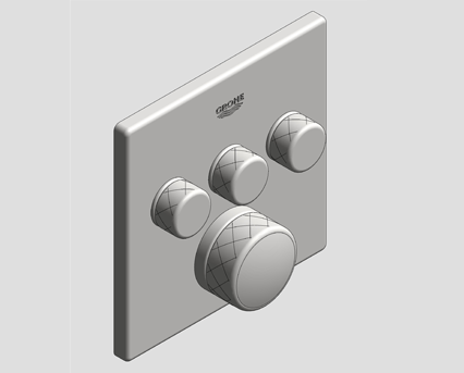 Revit, Bim, Store, Components, MEP, Object, Grohe, Plumbing, Fixtures, 14, METRIC, Grohtherm, Smart, Control, Thermostat, 29142000