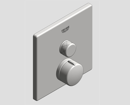 Revit, Bim, Store, Components, MEP, Object, Grohe, Plumbing, Fixtures, 14, METRIC, Grohtherm, Smart, Control, Thermostat, 29147000