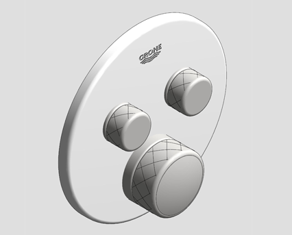 Revit, Bim, Store, Components, MEP, Object, Grohe, Plumbing, Fixtures, 14, METRIC, Grohtherm, Smart, Control, Thermostat, 29151LS0