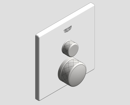 Revit, Bim, Store, Components, MEP, Object, Grohe, Plumbing, Fixtures, 14, METRIC, Grohtherm, Smart, Control, Thermostat, 29153LS0