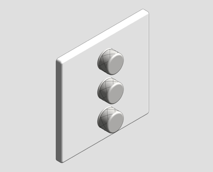 Revit, Bim, Store, Components, MEP, Object, Grohe, Plumbing, Fixtures, 14, METRIC, Grohtherm, Smart, Control, Triple, Volume, Control, 29158LS0