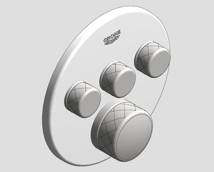 Revit, Bim, Store, Components, MEP, Object, Grohe, Plumbing, Fixtures, 14, METRIC, Grohtherm, Smart, Control, Thermostat, 29904LS0