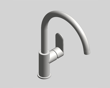 Revit, Bim, Store, Components, MEP, Object, Grohe, Plumbing, Fixtures, 14, METRIC, Sink, Mixer, 31232000