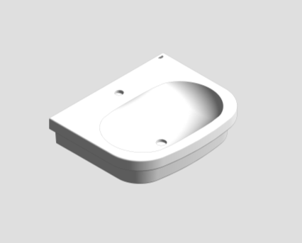 Revit, Bim, Store, Components, MEP, Object, Grohe, Euro, Ceramic, Counter, Top, Basin, 60, 39337000