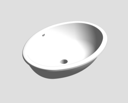 Revit, Bim, Store, Components, MEP, Object, Grohe, Bau, Ceramic, Universal, Washbasin, Under, Counter, 55, 39423000