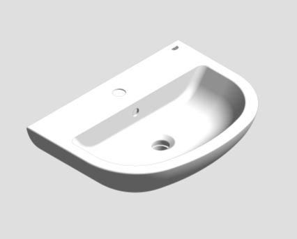 Revit, Bim, Store, Components, MEP, Object, Grohe, Bau, Ceramic, Washbasin, Wall, Hung, 55, 39440000