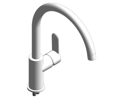 Revit, Bim, Store, Components, MEP, Object, Grohe, Plumbing, Fixtures, 14, METRIC, Grohe, Sink, Kitchen, BauEdge, Sink, Mixer, 31367000