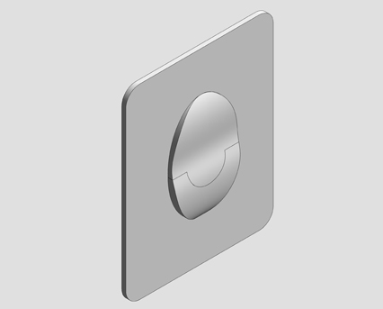 Revit, Bim, Store, Components, MEP, Object, Grohe,Skate,Air,Wall,Plate, WC, Wall, Plate , 38505000 , 38505SH0