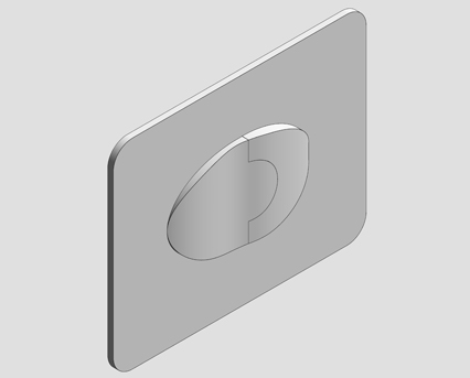 Revit, Bim, Store, Components, MEP, Object, Grohe,Skate,Air,Wall,Plate, WC, Wall, Plate , 38506000 , 38506SH0, horizontal