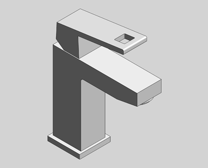 Revit, Bim, Store, Components, MEP, Object, Grohe, Plumbing, Fixtures, 14, METRIC, Eurocube,single,lever,basin,mixer,2339200E