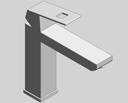 Revit, Bim, Store, Components, MEP, Object, Grohe, Plumbing, Fixtures, 14, METRIC, Grohe, Eurocube, OHM, Basin, Mixer, 23445000
