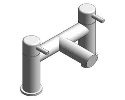 Revit, Bim, Store, Components, MEP, Object, Grohe, Plumbing, Fixtures, 14, METRIC, Concetto, Two, Handled, Bath, mixer, 25102000