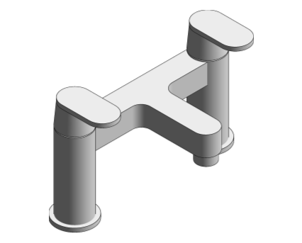 Revit, Bim, Store, Components, MEP, Object, Grohe, Plumbing, Fixtures, 14, METRIC, Two, Handled, Basin, Mixer, 125128000