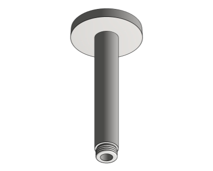 Revit, Bim, Store, Components, MEP, Object, Grohe, Plumbing, Fixtures, METRIC, Rainshower, Shower, Arm, 142mm, 28724000
