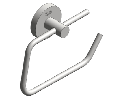Revit, Bim, Store, Components, MEP, Object, Grohe, Plumbing, Fixtures, METRIC, Essentials, Toilet, Paper, Holder, 40689001